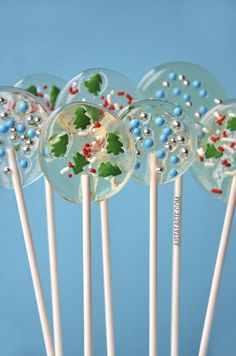 Homemade Holiday Lollipops Recipe from justataste.com