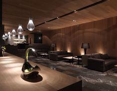 Image 33 of 33 from gallery of Hotel Dua / Koan Design. Courtesy of Koan Design Lobby Interior, Interior Lighting, Interior Architecture, Hotel Lobby Design, Hotel Lounge, Bar Lounge, Lobby Lounge, Home Design, Interior Design
