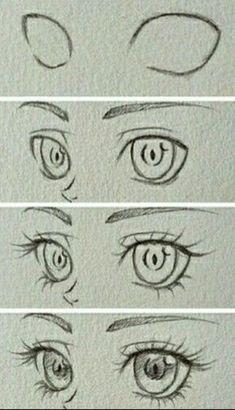 Eye Drawing Tutorials, Sketches Tutorial, Drawing Techniques, Drawing Tips, Eye Tutorial, Drawing Drawing, Drawing Ideas, Anime Eyes Drawing, How To Draw Anime Eyes