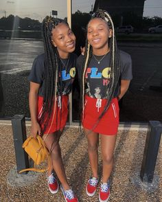 Most up-to-date Pictures Back to School-Outfit black girl Strategies, Twin Outfits, Teenage Outfits, Cute Swag Outfits, Teen Fashion Outfits, Outfits For Teens, Girl Outfits, Bestfriend Matching Outfits, Matching Outfits Best Friend, Best Friend Outfits