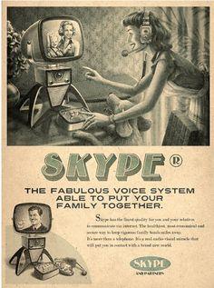 skype anuncio retro vintage marketing publicidad