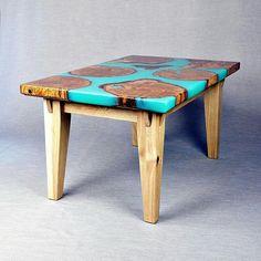 Oak cookies in blue lagoon #resin #furnituremaking #turquoise #oak #furnituredesign #oakfurniture #resinfurniture #design #furniture #homedecoration #coffetable #whiteoak