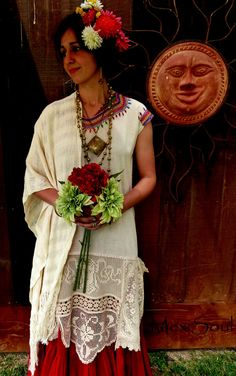 Frida Inspired Mexi Bridal Tunic Alternative Bridal by MexiSoul, $245.00