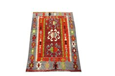 Antique Turkish Kilim rugs 4,0 x 2,8 Feet Anatolian Small size rugs Boho Rug Handwoven rug Vintage Area Rug natural dye wool rug Y-47 by stripepattern on Etsy