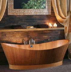 The Wooden Bathroom brings first class wooden accessories for the bathroom that gives your bathroom a glamour look. #Modern_Bathtub #Wood_Bathtub_Vancouver