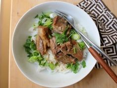 Slow-Cooker Coconut Braised Pork from CookingChannelTV.com