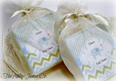 Baby  Boy Shower Favors Elephant Baby Shower Favors by AbbeyJames, set of 10, $40