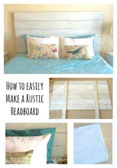 How to easily make a rustic headboard