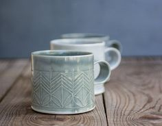 Dark Blue Porcelain Mug Porcelain Coffee Cup Modern by Free Folding #coffeecups