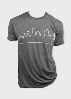 DALLAS  • Red Pegasus/White on Grey #OutlineTheSky #TexasGifts #Texas #ShopAcrossTexas