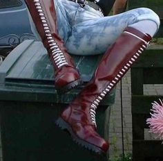 "destructiblepig: "" gay-skinheads: ""Watch hot studs strip naked: http:& "" Awesome boots! "" My tongue wants to make long slow love to those boots while he's wearing. Mens Tall Boots, Tall Leather Boots, Biker Leather, Black Boots, Skinhead Men, Skinhead Boots, Botas Dr Martens, Doc Martens, Riding Boots"