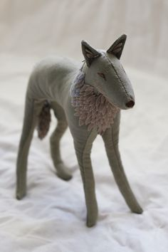 wolf fabric sculpture