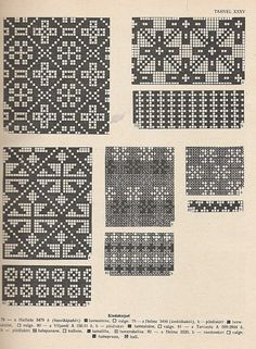 """petitepointplace: """"Icelandic knitting patterns for mittens. They'd be great for cross stitch as well. Knitting Charts, Knitting Stitches, Knitting Designs, Knitting Projects, Knitting Patterns, Knitted Mittens Pattern, Knit Mittens, Tricot D'art, Fair Isle Knitting"""