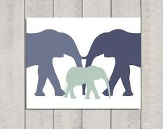 Elephant Nursery Art Print  8x10 by DeliveredByDanielle on Etsy