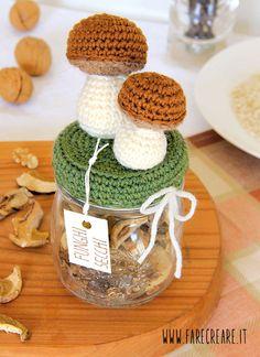 Funghi a uncinetto - www.farecreare.it