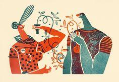 Wedding Screenprint : MALOTA - Illustrations