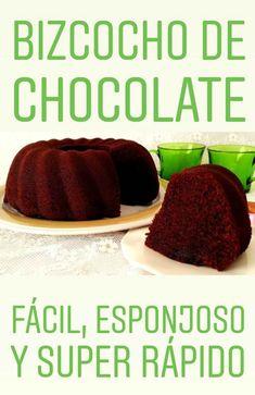 Bizcocho de chocolate fácil y rápido
