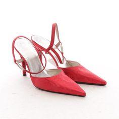 STUART WEITZMAN Pumps Gr. D 37,5 Rot Damen Schuhe Sandaletten Pumps High Heels
