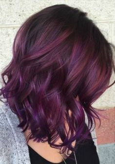 Blackberry hair colour, Hair color Hair color trends, Hair color burgundy, Hair, Burgundy hair - 35 Shades of Burgundy Hair Color for 2019 - Pelo Color Vino, Pelo Color Borgoña, Hair Color And Cut, Cool Hair Color, Short Hair Colors, Dark Hair Colours, Hair Colors For Fall, Hair Color 2018, Hair Color How To