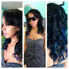 CHI #Chromashine hair color in Rich Blue by tiffanysalonspa #CHIcolor