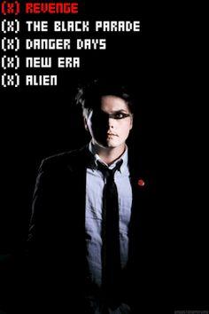 Gerard Way Looks// Styles | My Chemical Romance Revenge, The Black Parade & Danger Days | Hesitant Alien