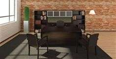 "Here's another beautiful executive office furniture configuration from Cherryman.  This is from their ""Amber"" series.  Available in 4 finishes including a beautiful ""Black Cherry"" wood finish. Typically ships in 48 hours!! Freight is included from this ecommerce dealer.  Coupons are available too!"