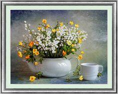 Needlework, Diy fita Cross Stitch define para kit de bordado, Copo flor fita amor cruz - ponto artesanato decoração da casa da parede