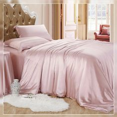 Relaxico Bedding Hotel Quality Silky Soft Luxurious Satin 7 Pc Sheet Set Wrinkle & Fade Resistant Hypoallergenic Breathable Durable Comfort Bedding Set With Duvet Set !