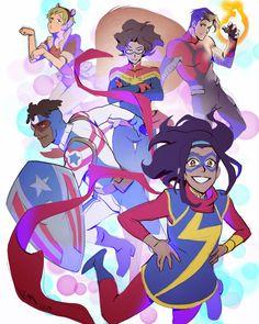 Voltron News and Updates Ms Marvel, Marvel Art, Captain Marvel, Marvel Comics, Marvel Logo, Lauren Montgomery, Secret Warriors, Voltron Fanart, Form Voltron