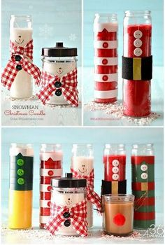 Christmas Candles from 36th Avenue and 31 Homemade Christmas Gift Ideas on Frugal Coupon Living.