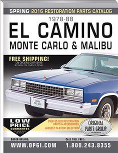 1978-1988 El Camino, Monte Carlo, and 78-83 Malibu Parts Catalog