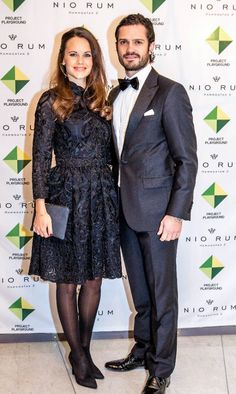 November 26,2015, Prince Carl Philip and Princess Sofia attended dinner for Project Playground