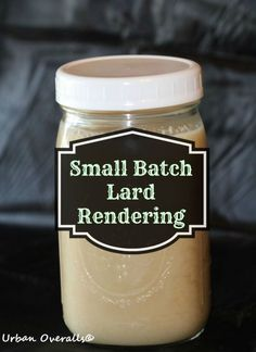 How to render lard from pig fat in small batch. Yes, you can easily do this at home. Great urban homesteading skill.