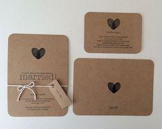 Wedding Invitation Set  Kraft Brown Paper   Custom by MintConfetti