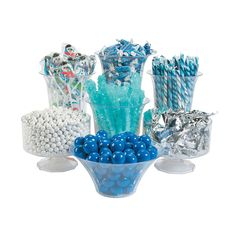 Create a winter wonderland with this Winter Candy Buffet Assortment. Save time and money and get everything you need for your winter-themed candy buffet in one place. Create a candy buffet with all t. Blue Candy Buffet, Candy Bar Wedding, Wedding Jobs, Wedding Ideas, Winter Wedding Receptions, White Chocolate Candy, Candy Display, Classic Candy, Candy Brands
