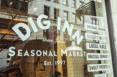 Dig Inn - menu is flexible on storefront to reinforce idea of seasonal items