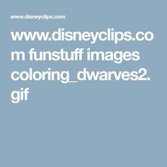 www.disneyclips.com funstuff images coloring_dwarves2.gif Christmas Tree Cut Out, M Image, Cut Outs, Color, Colour, Colors