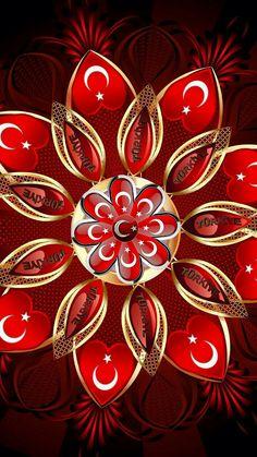 Hey! Resimlerimi düzenlemek için PicsArt kullanıyorum ve uygulamayı çok beğendim. Bence siz de beğeneceksiniz, deneyin!\n Wolf Wallpaper, Ornament Wreath, Istanbul, Flag, Wreaths, Iphone, Painting, Home Decor, Beautiful Flowers
