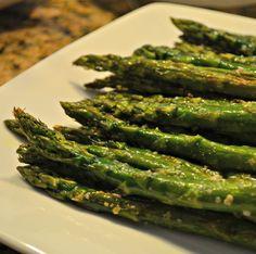 Garlic Parmesan Asparagus @ http://allrecipes.com.au