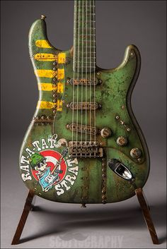 Fender Rat-A-Tat Strat hand-painted by David Lozeau and Masterbuilt by Dale Wilson