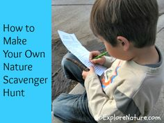 How to make your own nature scavenger hunt