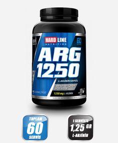 Hardline ARG 1250 - Arginine 120 Kapsül