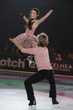 Meryl Davis and Charlie White during 2011 Paul Mitchell Fashion on Ice. (C) Brittany Evans