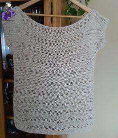 "Labores en Red: Cómo tejer una blusa ""chic"" para este verano: Knitting PatternsCrochet For BeginnersCrochet BlanketCrochet Amigurumi Débardeurs Au Crochet, Crochet Blouse, Crochet Shawl, Knitting Stitches, Free Knitting, Vetements T Shirt, Knitting Patterns, Crochet Patterns, Loose Knit Sweaters"