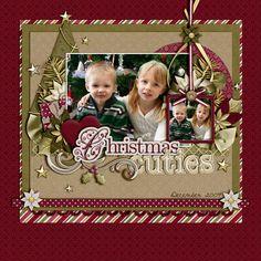 Scrapbook Layout - Christmas