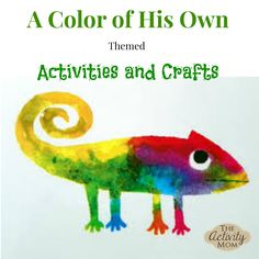 We just love the book A Color of His Own by Leo Lionni! It is a beautiful book with a wonderful message. Here are several activities and crafts to go along w. (toddler arts and crafts eric carle) Arts And Crafts For Teens, Art And Craft Videos, Easy Arts And Crafts, Best Children Books, Toddler Books, Childrens Books, Preschool Colors, Preschool Crafts, Preschool Shapes