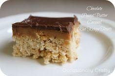 Occasionally Crafty: Chocolate Peanut Butter Caramel Rice Krispy Treats