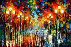 A Date With The Rain — PALETTE KNIFE Oil Painting on Canvas by AfremovArtStudio, $249.00