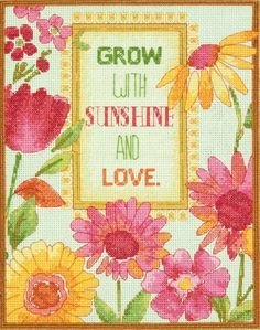 Painted Daisy Verse Cross Stitch Kit £20.25 | Past Impressions | Dimensions