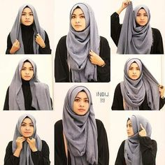 What is hijab? Hijab is the head scarf which is usually worn by the Muslim women. Simple Hijab Tutorial, Hijab Simple, Hijab Style Tutorial, Turkish Hijab Tutorial, Turban Style Hijab, Hijab Chic, Stylish Hijab, Casual Hijab Outfit, Hijab Dress